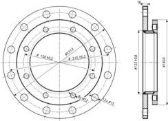 Редукционный фланец Drazice 210/150. Фото 2